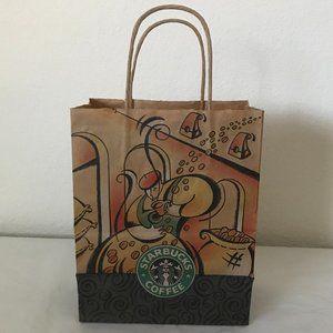 VINTAGE Starbucks paper bag sack 1994 w/old logo!